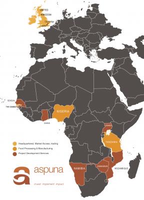 Aspuna Group Map 2021
